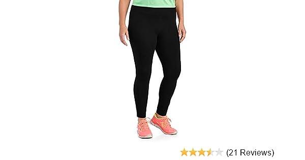 baa1a6a4fee97 Danskin Womens Plus-Size Dri-More Core Leggings (4X, Black) ... at Amazon  Women's Clothing store: