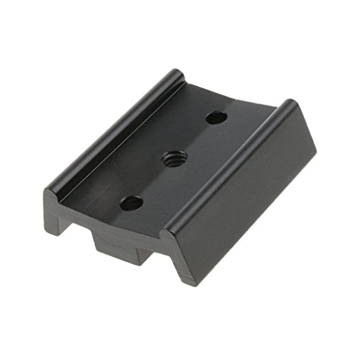 omical Telescope Parts 50mm Dovetail Mounting Plate Astronomical Equipment Connection Board - Black ()