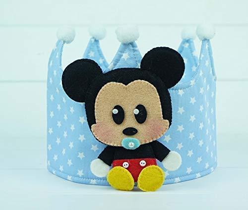 Corona Cumpleaños Tela Mickey: Amazon.es: Handmade
