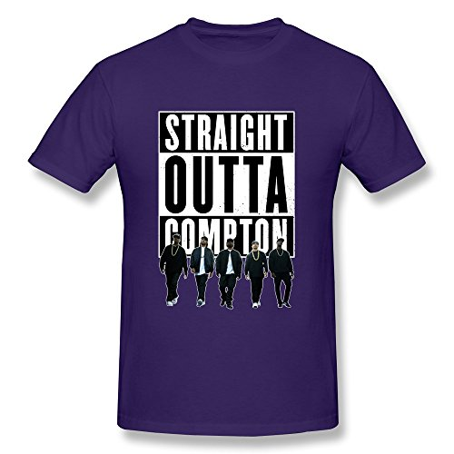 AOPO Straight Outta Compton 2015 Film O-Neck Shirt For Men XX-Large Purple