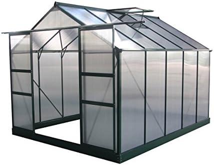 Viva Green 1299 _ 69184 Dahlia Invernadero de jardín policarbonato/plástico Verde árbol 7, 67 M² 308 x 249 x 226 cm: Amazon.es: Jardín