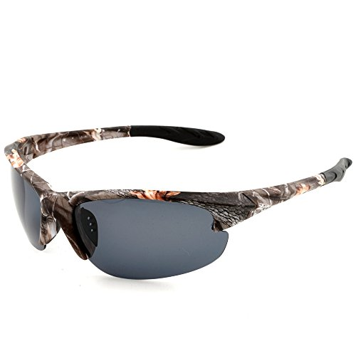 MOTELAN Polarized Casual Sports Sunglasses Tr90 Camouflage Unbreakable Frame for Driving Fishing - Sunglasses Cost Aviator Low