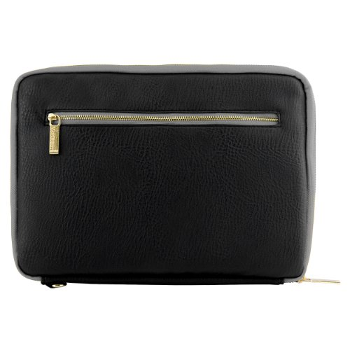 Premium Leather Protecitve Sleeve Bag Case for Ematic EGP008 Pro Series 8-inch Tablet - Black O11