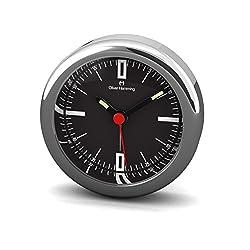 Oliver Hemming Chrome Steel Miniature Alarm Clock