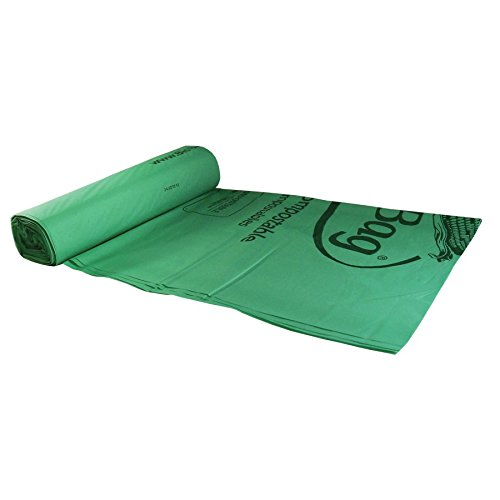 BioBag Compostable Bags - 44 Gallon Trash Can Liners - Case of 80 bags
