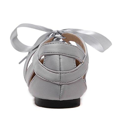 ZHZNVX selvaggia piatto 39 Sandali nero in punta fondo di moda con scarpe HqUwaH4