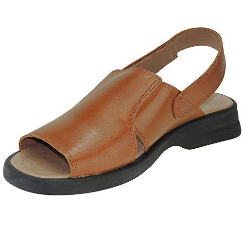 Cuero Velcro Abierta para Sandalia 1405 Punta Piel Jam Modelo Hombre Cierre tWHvnUHxq