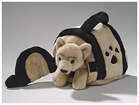 Stuffed Animal German Shepherd Dog in Doghouse, 6 inches, 15cm, Plush Toy, Soft Toy