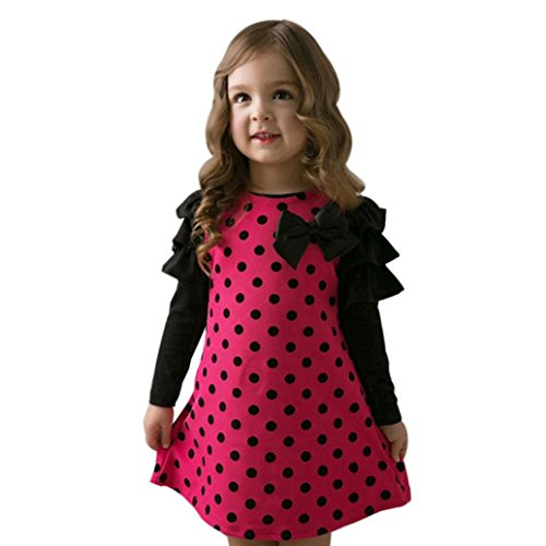 hot pink and black baby dresses - 4