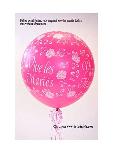 Belbal 1 balón gigante 90 cm Vive Les Mariés Fushia: Amazon.es: Hogar