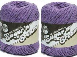 Bulk Buy: Lily Sugarn Cream (2-pack) (Hot Purple) (Cotton Purple Crochet)