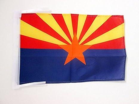 USA Piccola BANDIERINA Stato Americano Stati Uniti 14 x 21 cm AZ FLAG Bandiera da Tavolo Arkansas 21x14cm