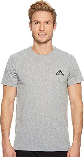 adidas Mens Training Ultimate Short Sleeve Tee, Medium Grey Heather, Medium