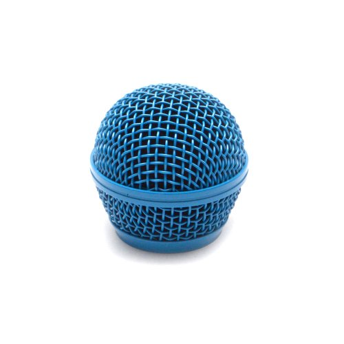 Seismic Audio SA-M30Grille-Blue Replacement Blue Steel Mesh Microphone Grill Head for Shure SM58, Shure SV100