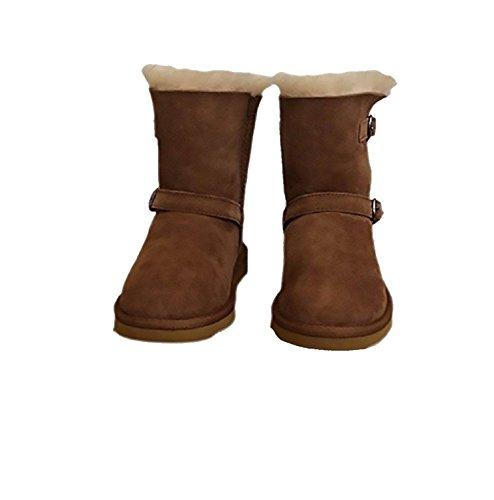 Kirkland Signatur Kvinners Størrelse 7 Shearling Spenne Boot, Cheatnut