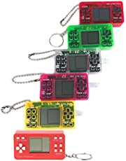 Game Console,FEIlei Mini Portable Retro Classic Game Console Handheld Game Player with Keychain for Kids Children Educational Gaming Toys Gifts-B