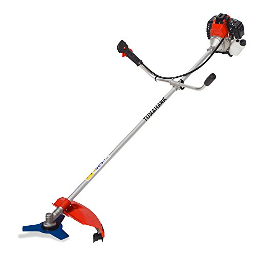 Tomahawk Power 2-cycle 43cc Pro Gas Straight Shaft Trimmer and Brush Cutter for Lawn Garden