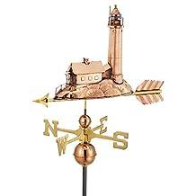"""27"""" Luxury Polished Copper Nautical Lighthouse Weathervane"""