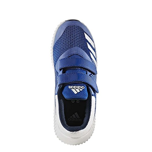 adidas Unisex-Kinder FortaRun CF K Fitnessschuhe blau / weiß
