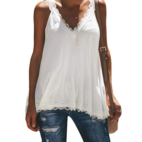 Toimoth Fashion Womens Sexy Lace Cotton Vest Camisole Sleeveless T-Shirt V-Neck Tank ()