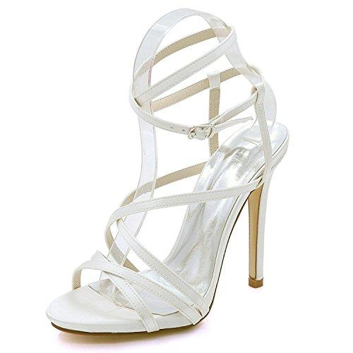 02 Corte Tamaños 3 Vestido 7216 Talón Plataforma 8 L Ivory Abierta La yc Zapatos Fiesta Sandalias Mujeres De Boda Las Del Alto SxqU7wT