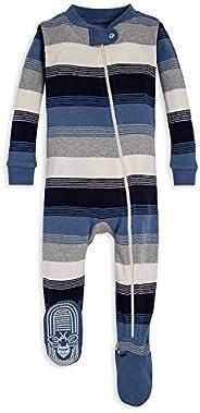 Burt's Bees Baby-Boys Unisex Pajamas, Zip-Front Non-Slip Footed Sleeper Pjs, Organic Co