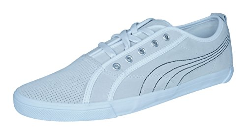 (PUMA Kreta L Perf Mens Leather Sneakers/Shoes-Off White-10)