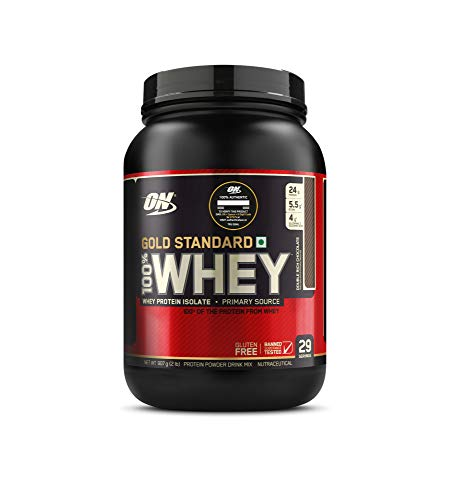 Optimum Nutrition (ON) Gold Standard 100% Whey Protein Powder – 2 lbs, 907 g (Double Rich Chocolate), Primary Source…