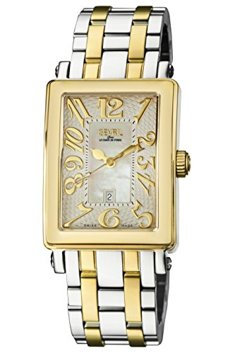Gevril Woman's 'Ave of Americas Mezzo' Quartz and Stainless Steel Two-Tone Watch