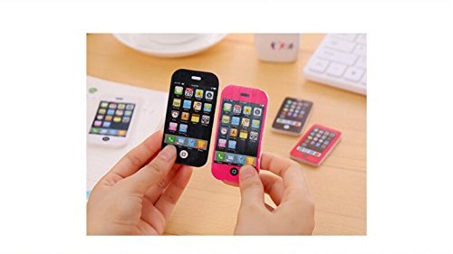 Grandey Novelty Mobile Phone Rubber Eraser Creative Stationery School Supplies Kawaii Papelaria Gifts For Children 3ps (Small)]()