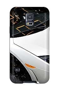 New Tpu Hard Case Premium Galaxy S5 Skin Case Cover(lamborghini Beautiful Car Wide)