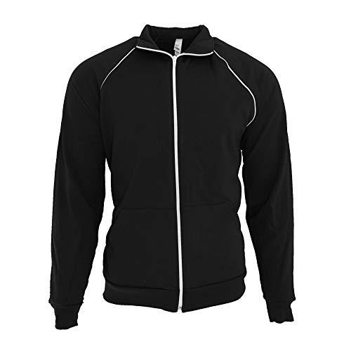 American Apparel Unisex California Fleece Full Zip Sports/Track Jacket (L) (Black / -
