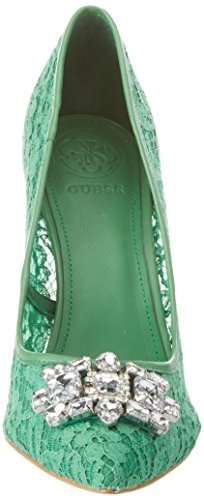 Guess Footwear Dress Sandal, Scarpe Col Tacco Punta Chiusa Donna Verde (Medium Green)