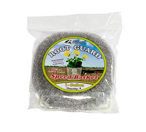 RootGuardTM 4-Pack Digger's 1 Gallon Speed Baskets, Gopher Wire Baskets