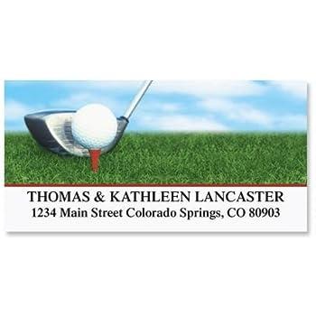 Amazon.com : Golf Club Personalized Return Address Labels- Set of 144, Large Self-Adhesive, Flat