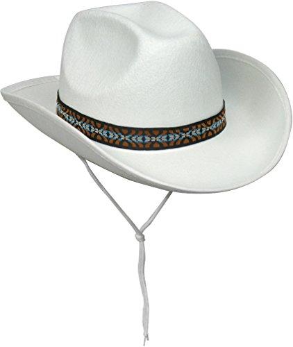 Cowboy Hat Accessories (White Felt Cowboy Hat)