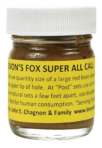 Lenon's Fox Super All Call - Fox Lure/Scent Bottle - On The Market Since 1924 (1 oz. Bottle)