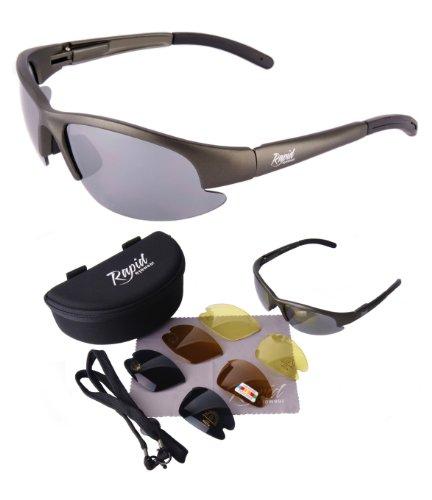 Modelglasses - NIMBUS SPORT SUNGLASSES With Interchangeable POLARISED & LOW LIGHT Anti Glare Lenses for RC Flying, Cricket, Tennis, Rowing, Archery. For Men & Women. UV400 (UVA / UVB) Protection (Best Sunglasses For Rc Flying)