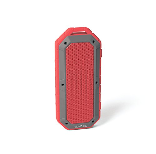 KLAZZO Beach Bomb IP66 Waterproof Shockproof Portable Bluetooth Speaker With built in Mic Aux-In and 2,000mAh Battery - Red