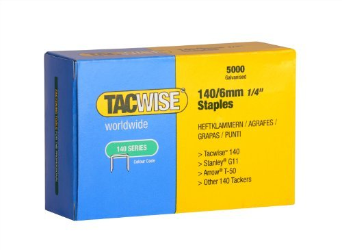 Tacwise 0340 140 Series 1/4-Inch Flat Wire Professional Staples, 5000-Pack (0340) by Tacwise