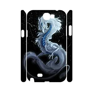 T-TGL(RQ) Custom Dragon Pattern Protective Phone Case for Samsung Galaxy Note 2 N7100 3D
