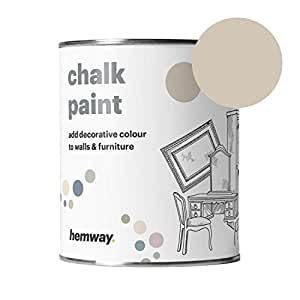 Hemway Chalk Paint (Beige) Matte finish Wall and Furniture Paint 1L / 35oz Shabby Chic Vintage Chalky (14 Colours Available)