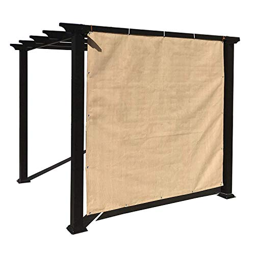 - Alion Home Sun Shade Panel with Grommets on 4 Sides for Patio, Awning, Window Cover, Pergola or Gazebo - Banha Beige (8'x 6')