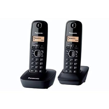 Panasonic KX-TG1612FRH - Teléfono Fijo Digital (contestador, contestador, Pantalla LCD), Negro (Importado)