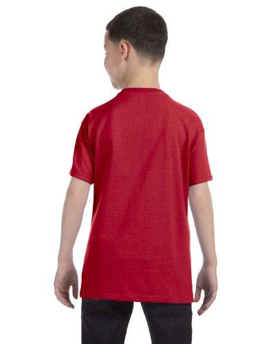 Jerzees Youth Heavyweight Blend T-Shirt, True Red, (Red Youth Heavyweight T-shirt)