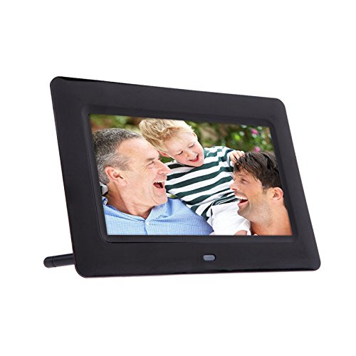 Lnicesky 7inch HD LCD Digital Photo Frame with Alarm Clock Slideshow MP3/4 Player BK