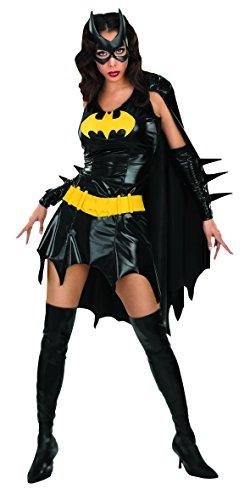Batgirl Cape Dress Womens Adult Batman Cosplay Costume (L) -