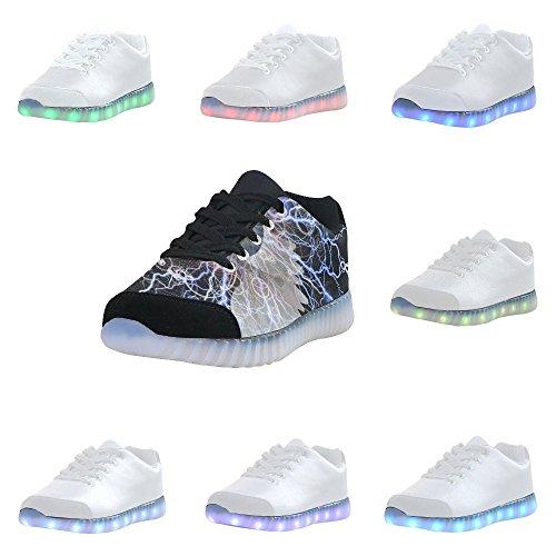 D-story Bevingade Öga Mode Sneakers Lyser Womens Skor Multicoloured36