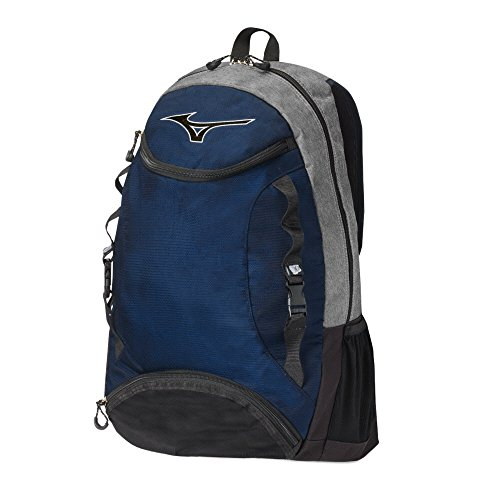 Mizuno Lightning Volleyball Backpack, Grey/Navy