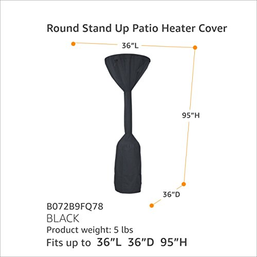 AmazonBasics Round Stand Up Patio Heater Cover - Black